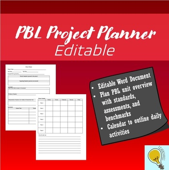 Editable PBL Project Planner