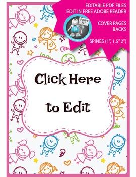 Editable PDF Teacher Binder Cover - Super Easy to Edit, Co
