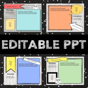 Editable PPT Presentation - Back to School Introductions -