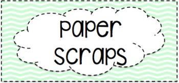 Editable Paper Scraps Bin Labels
