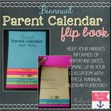 Editable Parent Calendar Flipbook { Biannual }