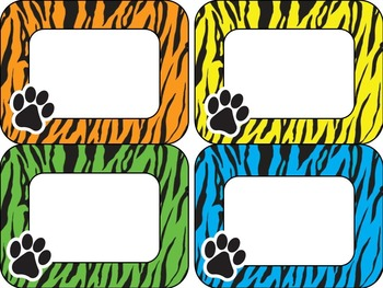 Editable Paw Labels