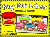 Editable Personalized Play-Doh Labels {Playdough Clay}
