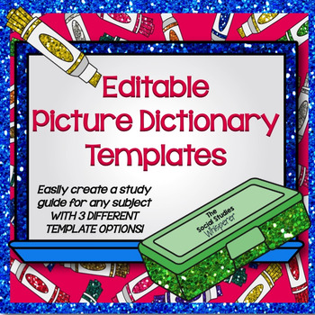 Editable Picture Dictionary Templates