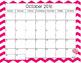 Editable Pink 2016-2017 Chevron Calendars
