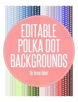 Editable Polka Dot Backgrounds