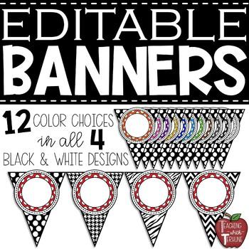 Editable Polka Dot Banner