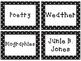 Editable Polka Dot Library Labels