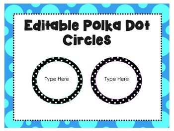 Editable Polka Dot Specials Signs