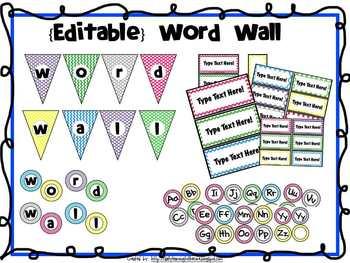 Word Wall {Editable}
