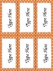 Editable Polka Dotted Labels~3 sizes per color + long rect