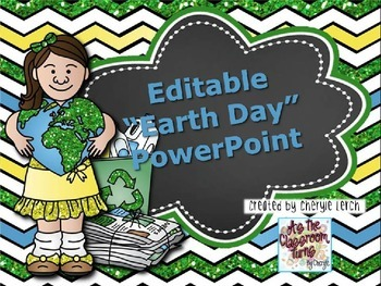 "Editable PowerPoint Presentation - ""Go Green"""