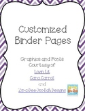 Editable Primary Binder Pages