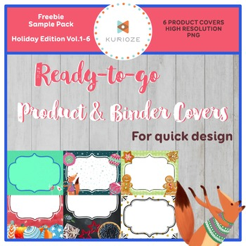 Editable Product & Binder Covers {KURIOZE - Digital Clipar