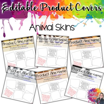 Editable Product Covers-Animal Skins
