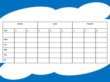 Editable Program & Bell Schedules