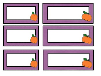 Editable Pumpkin Labels