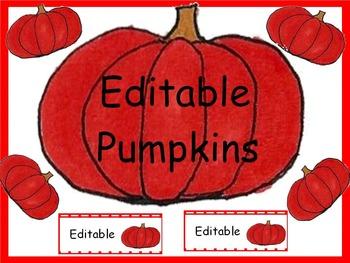 Free Editable Pumpkin Labels