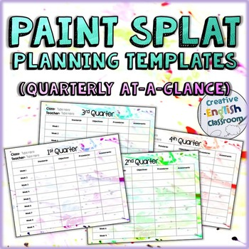 Editable Quarterly Planning Templates with Paint Splat Theme