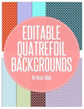 Editable Quatrefoil Backgrounds