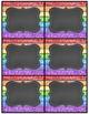 Editable Rainbow Labels Chalkboard & White Frame Set 2