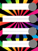 Editable Rainbow Name Tags or Name Plates 2