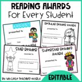 #springbackin Editable Reading Award Certificates