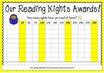 Reading Nights Award Chart