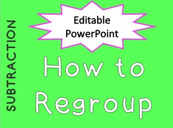 Editable Regrouping PowerPoint