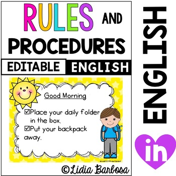 Editable Rules and Procedures- 14 Charts in English