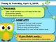 Editable SPRING Owl Themed Morning Work PowerPoint Templates
