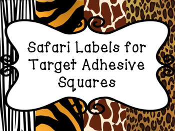 Blank Safari Themed Labels