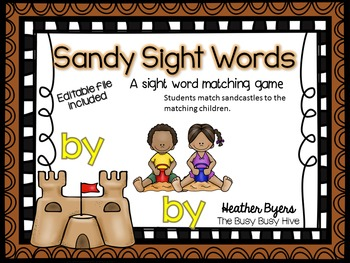 Editable Sandy Sight Words- sight word game