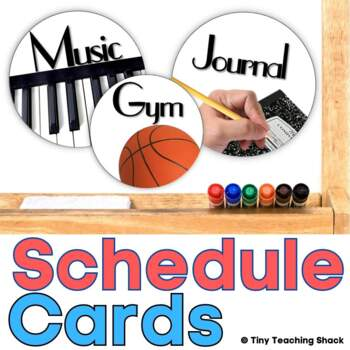 Editable Schedule Cards- Real Pictures on White Circles