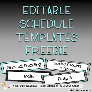 Editable Schedule Cards {FREEBIE!}