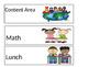 Editable Schedule for Kindergarten