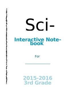 Editable Science Interactive Notebook