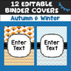 Editable Seasonal Binder Covers and Spines
