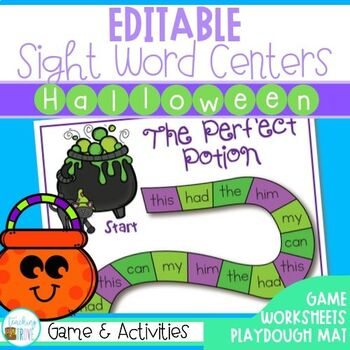 Editable Sight Word Activities – Halloween Themed Mini Pack