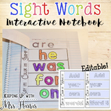 Editable Sight Word Interactive Notebook