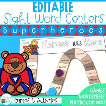 Sight Words - Editable Sight Word Worksheets and Games– Su