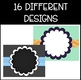 Editable Signs FREEBIE! 16 Bright and Colorful Signs (chev