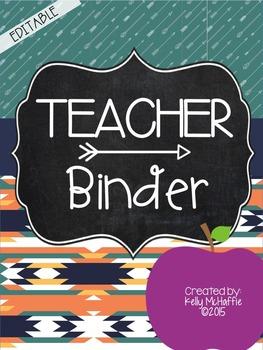 Editable {Simple} Teacher Binder