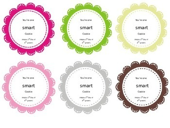 "Editable ""Smart as a Cookie"" gift tags"