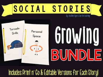 Editable Social Stories {Growing BUNDLE}