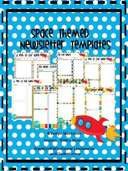 Editable Space Themed Newsletters