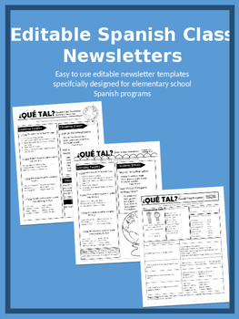 Editable Spanish Class Newsletters