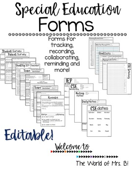 Editable Special Education Forms