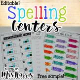 Editable Spelling Activities - FREE Sample!