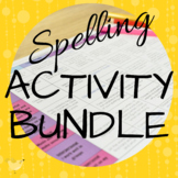 Editable Spelling Activity Matrix, PPT & Task Cards: 42 Bl